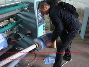 Бобинорезальная машина для резки нетканных, тканных и других материалов NW-S. Фотография -11