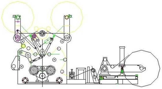 Бобинорезательная машина горизонтального контактного типа для нарезки узких роликов шириной от 5-10 мм серий BFQ и BFQ-speed. Фото 2.