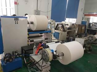 Бобинорезательная машина горизонтального контактного типа для нарезки узких роликов шириной от 5-10 мм серий BFQ и BFQ-speed. Фото 5.