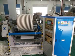 Бобинорезательная машина горизонтального контактного типа для нарезки узких роликов шириной от 5-10 мм серий BFQ и BFQ-speed. Фото 7.