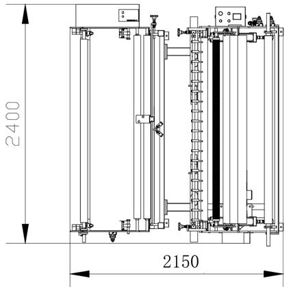 Бобинорезальная машина для резки спанбонда и других нетканных материалов шириной до 1800 мм. Фотография 3.