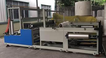 Бобинорезальная машина горизонтального построения для перемотки и нарезки туалетной бумаги в один или несколько слоёв шириной 1800 мм - 2400 мм. Фотография 1.