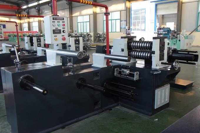Бобинорезальная машина (бобинорезка) серии FQ-Steel для продольной резки стальной, алюминиевой, медной или других металлов ленты. Фотография 1.