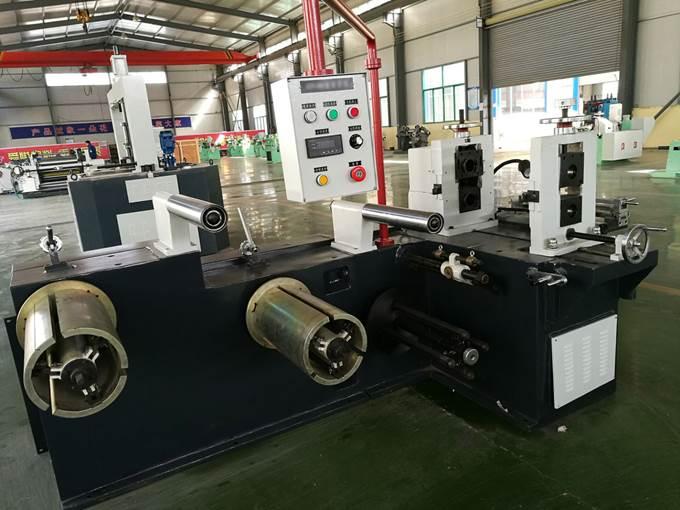 Бобинорезальная машина (бобинорезка) серии FQ-Steel для продольной резки стальной, алюминиевой, медной или других металлов ленты. Фотография 2.