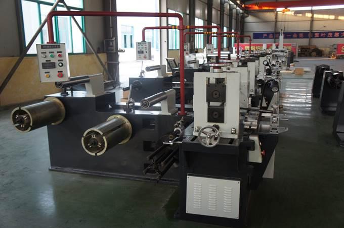 Бобинорезальная машина (бобинорезка) серии FQ-Steel для продольной резки стальной, алюминиевой, медной или других металлов ленты. Фотография 3.