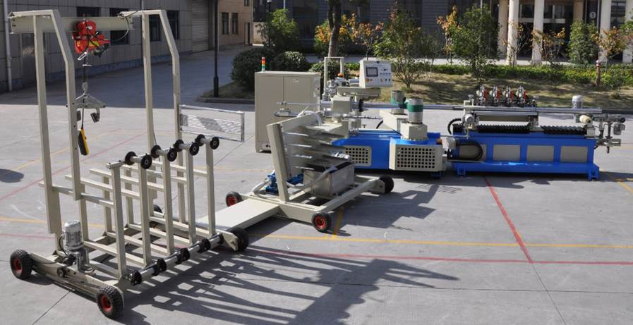 Машина для навивки и нарезки туб, втулок и шпулей и автоматической их нарезки на отрезки - диаметр туб 20 – 120 мм -2