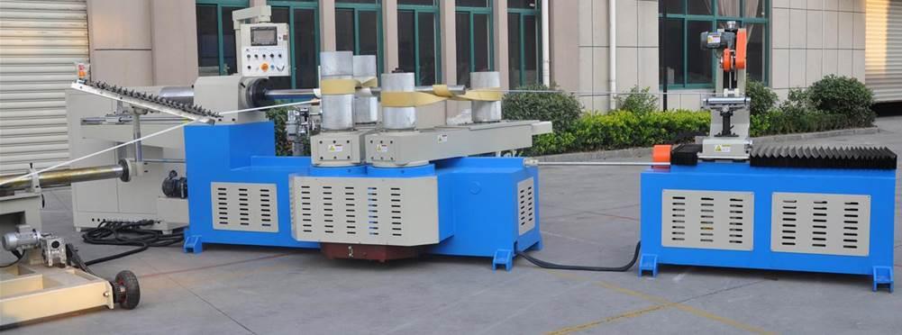 Машина для навивки и нарезки туб, втулок и шпулей и автоматической их нарезки на отрезки - диаметр туб 30 – 300 мм, толщина стенки 1-15 мм. Фотография 1.
