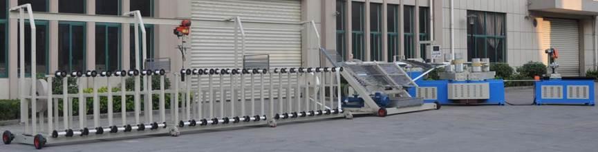 Машина для навивки и нарезки туб, втулок и шпулей и автоматической их нарезки на отрезки - диаметр туб 30 – 300 мм, толщина стенки 1-15 мм. Фотография 2.