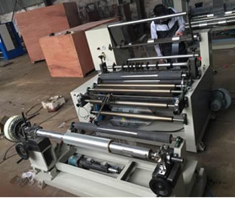 Бобинорезальная машина WFQ-1500-PVC для резки жесткого ПВХ - бобинорезка - вторая фотография