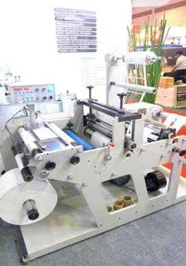 DKG-320 / DKG-450 / DKG-550 ротационная высекальная машина с системой продольной резки полотна (рулонная высечка + бобинорезка) - фотография -1