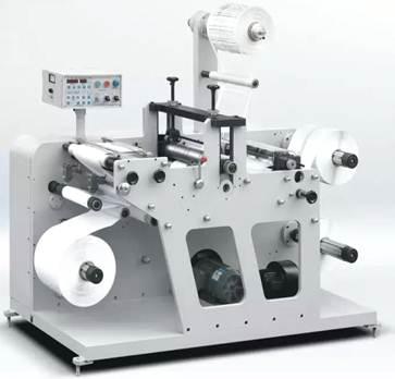 DKG-320 / DKG-450 / DKG-550 ротационная высекальная машина с системой продольной резки полотна (рулонная высечка + бобинорезка) - фотография -2