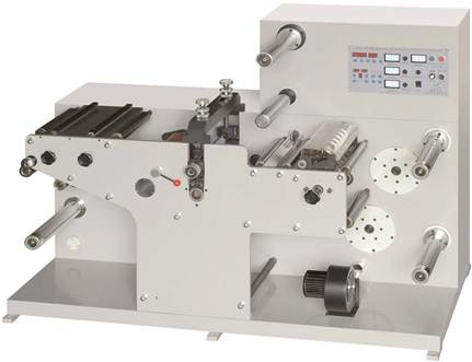 DKG-320 / DKG-450 / DKG-550 ротационная высекальная машина с системой продольной резки полотна (рулонная высечка + бобинорезка) - фотография -3