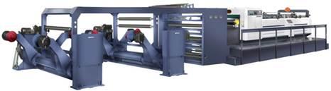Скоростная ротационная листорезальная машина GM-1400 с несколькими размоточными валами (листорезка - флаторезка). Фотография 3.