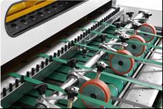 Скоростная ротационная листорезальная машина GM-1400 с несколькими размоточными валами (листорезка - флаторезка). Фотография 5.