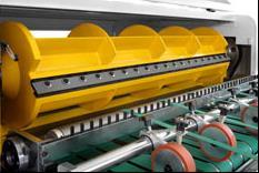 Скоростная ротационная листорезальная машина GM-1400 с несколькими размоточными валами (листорезка - флаторезка). Фотография 6.