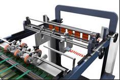 Скоростная ротационная листорезальная машина GM-1400 с несколькими размоточными валами (листорезка - флаторезка). Фотография 9.