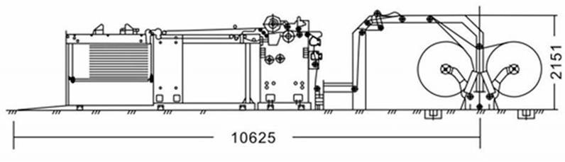 Скоростная ротационная листорезальная машина GM-1400 с несколькими размоточными валами (листорезка - флаторезка). Фотография 10.